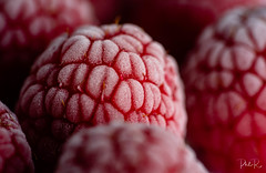 Frozen (PhilR1000) Tags: macromondays raspberry red berry rubus bfood redux2018 food frozen ice