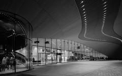 Oodi (Antti Tassberg) Tags: kirjasto 24mmts arkkitehtuuri oodi bw helsinki longexposure rakennus 24mm architecture blackandwhite building lens library monochrome prime tiltshift