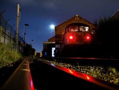 The End (Wulfruna) Tags: 6m08 grid 56078 colas steel freight railway diesel locomotive bostonsteel uk england washwoodheath metcam pawprints railhead moon