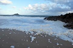 3726 Sea of foam (Realmantis) Tags: ocean storm beach rock foam ecume