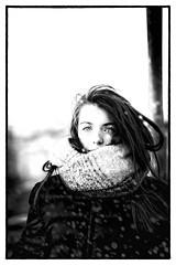 snow portrait (Angelo Petrozza) Tags: portrait snow blackandwhite biancoenero bw eyes occhi hair neve angelopetrozza smcdfa100mmf28macrowr