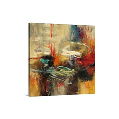 Instinctual Beauty I I Wall Art - Canvas Gallery Wrap - A chaotic blend of brush strokes on a square canvas with a centered composition.   Check out our website: https://spaceplug.com/instinctual-beauty-ii-wall-art-canvas-gallery-wrap.html . . . . #spacep (spaceplug) Tags: canvas art shop mood spaceplug instinctualbeauty buy gallerywrap wallart like4like photo abstract colors bigcanvas perfectpic photography follow4follow