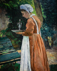 Camille Pissarro - The Maidservant, 1875 at Chrysler Museum of Art Norfolk VA (mbell1975) Tags: norfolk virginia unitedstates us camille pissarro the maidservant 1875 chrysler museum art va museo musée musee muzeum museu musum müze museet finearts fine arts gallery gallerie beauxarts beaux galleria painting impression impressionist impressionism french portrait