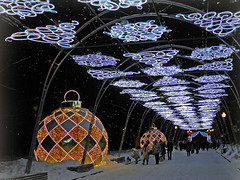 Moscow night light (janepesle) Tags: russia moscow night light celebration new year christmas illumination city cityscape outdoors urban park people