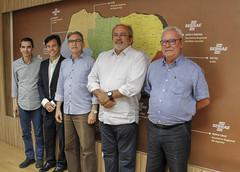 Da esquerda para a direita - O diretor técnico, João Hélio Cavalcanti; o diretor de operações, Marcelo Toscano; Presidente do Conselho, Marcelo Queiroz; Vice-Presidente do Conselho, Itamar Manso Maciel Junior e o Superintendente, Zeca Melo