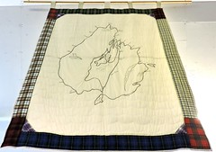 Wall hanging depicting map of Cape Breton (Will S.) Tags: wallhanging map mypics louisbourg capebreton novascotia canada sydneylouisburgrailwaymuseum