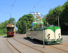 Two for the price of one (jpotto) Tags: uk derbyshire crich crichtramwaymuseum tram trams transport eastmidlands ambervalley