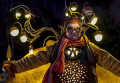 electric bumblebee (Blende1.8) Tags: man mann darsteller kostümiert costumed people fun grimasse snoot grimace portrait crazy light night nightshot nightshots availablelight verfügbareslicht freihand nacht nachtaufnahme kostüm costume phantasialand brühl fantasy sony alpha ilce7m3 a7iii a7m3 zeiss sonnar5518za 55mm openaperture offenblende actor illumination illuminated beleuchtet lichter licht
