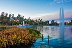 Echo Park Lake (SCSQ4) Tags: california donutstreetmeet echopark echoparklake losangeles morning