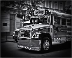 Instamatic Photography (Black and White Fine Art) Tags: instacoraf2 126cartridgecartucho aristaedu10035mm kodakd76 autobus bus nicksilverefexpro2 lightroom3 sanjuan oldsanjuan viejosanjuan puertorico bn bw