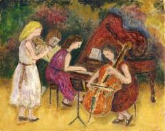 trio (danielborisheifetz) Tags: art painting oil oilpainting music female