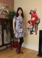 Next portrait (Joanne (Hay Llamas!)) Tags: transgender shemale genderfluid genderqueer tg brunette tgirl gurl cute uk brit british britgirl dress next picture gilelvgren