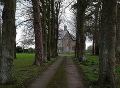 The Vicarage (Andy WXx2009) Tags: landscape road path trees wales europe llantwitmajor building architecture artistic house field beauty history culture winter outdoors landmark