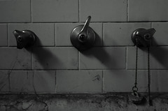bathroom 1 B&W (sandroraffini) Tags: sony rx100 dsc sandroraffini arw bw decay creepy bath tub vasca bagno bathroom interno interior 60 years basement cantina bologna penombra penumbra gloom dereliction abbandono minimalismo minimalism macro rubinetti taps leva lever miscelatore mixer