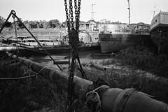 (Gabriel Ghiggeri) Tags: voigtlander bessa r 25mm f4 kodak trix 400 urban decay old black white abandoned texture rust boat boats nature dirt tones contrast ishootfilm filmshooter gabriel ghiggeri landscape film
