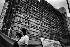 city 705 (soyokazeojisan) Tags: japan osaka city street bw people blackandwhite monochrome analog olympus m1 om1 28mm film trix kodak memories 1970s