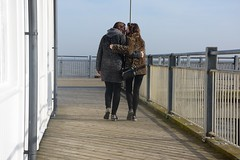 Love and Affection (Bury Gardener) Tags: suffolk streetphotography street streetcandids snaps strangers seaside southwold candid candids people peoplewatching folks nikond7200 nikon england eastanglia uk pier 2019 kiss love affection girl girls