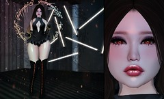 Witchy Ways {888} (Rainbow PixieFarts) Tags: taketomiwest purepoison cubiccherry buing leluck song mudskin ks cowtea collabor88 enchantment we3rp lovebiteshunt mainstore clubtaketomi dark halo makeup witch neon lights sl secondlife