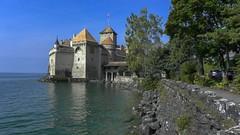 Château de Chillon (Chillon Castle Montreux-Veytaux )  Switzerland (Feridun F. Alkaya) Tags: chillon castle montreuxveytaux châteaudechillon château switzerland swiss iviçre şato history historical historic ruins savoy