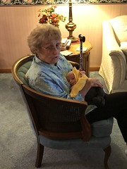 """Grandma Shirley Holds Sam • <a style=""""font-size:0.8em;"""" href=""""http://www.flickr.com/photos/109120354@N07/46385903462/"""" target=""""_blank"""">View on Flickr</a>"""