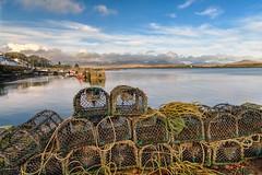 Roundstone Co Galway (irishman67) Tags: ireland harbour irelandswildwest connemara fishing fishingpots lobsterpots blue