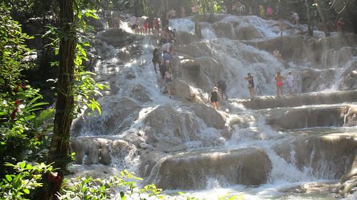 Jamaica -  Ocho Rios: Climbing the Dunn's river waterfalls is a wet pleasure