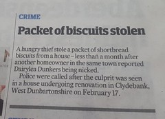 Crime - Packet of Biscuits stolen - Clydebank (norbet1) Tags: