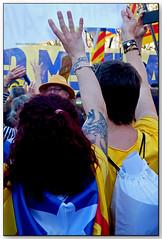 «Omplim Madrid», Paseo del Prado, Madrid (España) (Jesús Cano Sánchez) Tags: elsenyordelsbertins fujifilm xq1 espanya spain españa castella castilla comunidaddemadrid madrid manifestacio manisfestacion demonstration independencia independence democracia democaracy llibertat libertad freedom