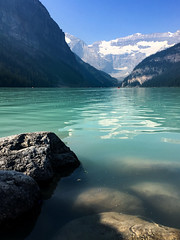 Lake Louise, Alberta (Jim 03) Tags: lake louise banff national park alberta canadian rockies turquoise glacier peaks chateau sky blue water mountains jim03 jimhoffman jhoffman jim wwwjimahoffmancom wwwflickrcomphotosjhoffman2013