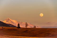Kriváň v splne (kasinco) Tags: slovakia sunset landscape light hill trees tatry moon nikon d 7000 fields