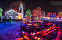 Upper Canada Village Christmas Lights (Oleh Khavroniuk (Khavronyuk)) Tags: nikon nikkor d750 canada explorecanada ontario ottawa uppervillage village rural countryside night nightphotography nightshooters longexposure christmas christmasdecorations christmaslights church holiday december winter snow festive newyear happynewyear happyplanet travel travelphotography traveling colors colours colorful streetphotography streetphoto streetart lights light shadows motion new flickr digital geotagged candid navidad decoration fence