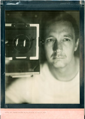 Testar den där manliga blicken (Polaroid 8x10) (mmartinsson) Tags: 300mm portrait blackandwhite intrepidcamera instantfilm schneiderkreuznach film selfie analoguephotography impossibleproject scan largeformat generation20 epsonperfectionv700 polaroid 8x10 bw selfportrait