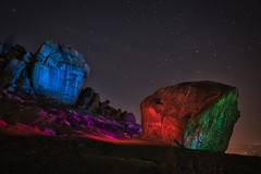 _0PC8225AP (pcartermiet) Tags: rocks lightpainting night landscape outdoors cowandcalf ilkley nikon d810 quarry stars grass