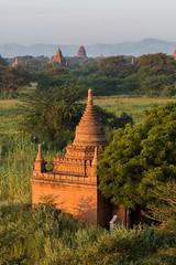 Bagan au petit matin (Seb & Jen) Tags: bagan myanmar burma birmanie mandalayregion myanmarbirmanie oldbagan nyaungu royaumedepagan bulethi sunrise soleil temple pagoda pagode