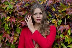 Kornelia (piotr_szymanek) Tags: kornelia woman young skinny portrait outdoor face longhair autumn eyesoncamera red leaves korneliaw 1k 20f 50f 5k