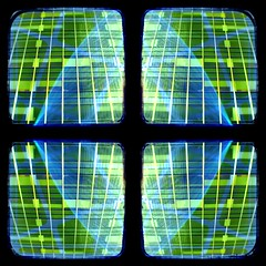 2019 0109 four squares blue with gold midtown neon organic (Area Bridges) Tags: 2019 201901 20190109 video square squarevideo experiment iteration ttvframe pentax automated automation pan zoom vegaspro edit editing render videocollage animated animation