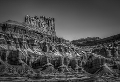 The Many Layers of Capitol Reef National Park. (donnieking1811) Tags: utah fruita capitolreefnationalpark capitolreef nationalpark park mountains layers landscape outdoors sky blackwhite bw monochrome hdr canon 60d lightroom photomatixpro