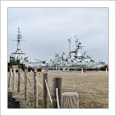 Battleship Cove (Timothy Valentine) Tags: 0319 large ussmassachuetts battleshipcove friday 2019 fence fallriver massachusetts unitedstatesofamerica us