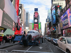 2019 Celebration of Retro TWA Hotel - Wingless Plane Times Square 4513 (Brechtbug) Tags: 2019 celebration retro twa hotel brooklyn wingless 1958 lockheed constellation connie l1649a starliner airplane visits times square before heading trans world airlines new yorks john f kennedy international airport known york anderson field commonly idlewild city march 23rd nyc 02232019