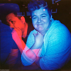 Liz's Birthday - Holga GCFN - Kodak Ektar 100 (bizzano) Tags: gcfn colorgels holga 120 multipleexposure colorflash birthday ektar100 toycamera filmphotography mediumformat doubleexposure film kodak ohio pinsmechanical dublin asseenincolumbus columbus