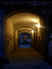 dark corridor (Darek Drapala) Tags: zabkowska warsaw warszawa praga panasonic poland polska panasonicg5 city urban architecture old oldtown lumix light night