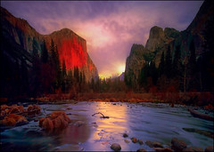 The Enchanted Valley (Gio_guarda_le_stelle) Tags: yosemite np sunrise valley california nature artwork painting peaceful river sky sun clouds birds alba unesco quiet wildlife