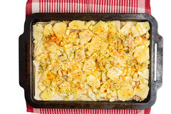 Flat lay above raw potatoes moussaka (wuestenigel) Tags: vegetable bake sauce minced dish moussaka healthy gourmet food traditional greek cuisine casserole lunch tasty rawfood meal meat potato preparing lebensmittel dinner abendessen mittagessen noperson keineperson traditionell mahlzeit delicious köstlich gemüse gericht kochen fleisch cooking nutrition ernährung epicure feinschmecker rice reis plate teller homemade hausgemacht gesund lecker onion zwiebel