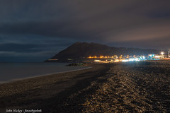 Bray at night - DSC_0517 (John Hickey - fotosbyjohnh) Tags: 2019 january2019 seascape seaside sea seashore beach nighttime dark brayhead landscape night sky streetlights mountain irishsea