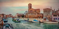 Murano 2 (Xtian du Gard) Tags: xtiandugard 2x1 italie venise murano panorama landscape waterscape bateaux boats texture