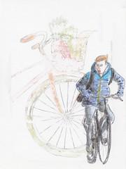 15x20cm karton, verticaal #45 / 15x20cm cardboard, portrait #45 (h e r m a n) Tags: herman illustratie tekening 15x20cm tegeltje drawing illustration karton carton cardboard kunst art portrait verticaal fiets bicycle jongen boy