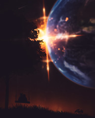 Explosion~ (Nitsakia photography) Tags: photoshop photoart digitalart finland kuvankäsittely kissat cats planeetta