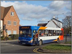 4th attempt for a 4............. (Jason 87030) Tags: dennis dart pointer slf 4 bilton thegreen sunny weather jamsine february 2019 stagecoach midlands admiralsestate roadside sony ilce alpha red white blue orange kx56kha