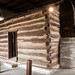 Re-erected Lincoln Marriage Cabin at Old Fort Harrod State Park in Harrodsburg,