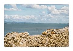 Barreiro, Portugal (Sr. Cordeiro) Tags: barreiro portugal rio tejo tagus river nuvens cloud cloudy nublado muro wall mariscador shellfisherman margemsul panasonic lumix gx80 gx85 14140mm